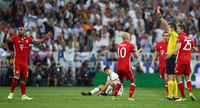 Match referees were more tired than players in Real Madrid vs Bayern Munich game