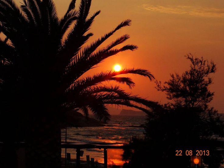 Sunset over Άγιος Στέφανος (Agios Stefanos Beach) Avilotes Corfu