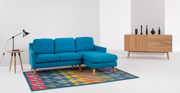 Airbrick Rug 160 x 230cm, Teal and Red | made.com