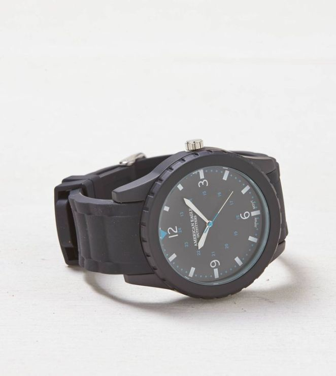 Accessoires : AEO Rubber Watch Black | American Eagle Outfitters