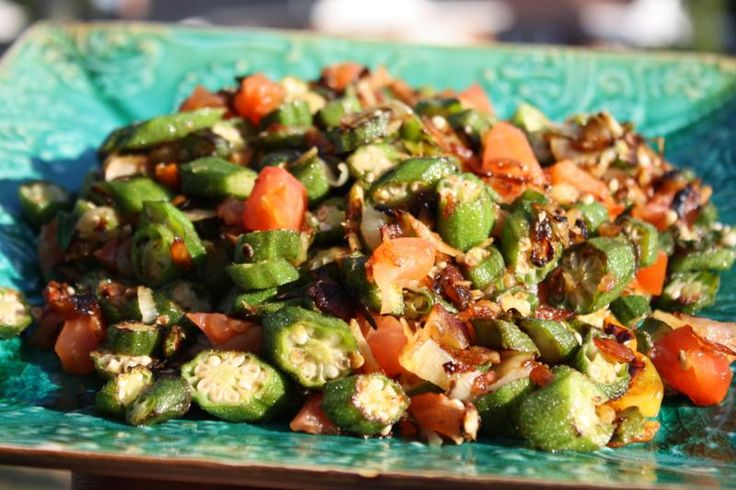 Fried Okra With Salted Cod. Here's a tasty way to add additional flavor to okra as it's done in the Caribbean.