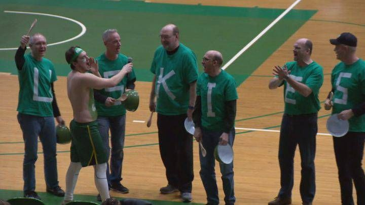The Saskatchewan Huskies basketball team will have a special group of fans cheering them on as they chase their second straight national championship.