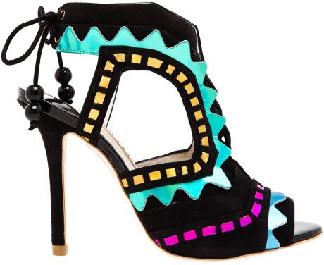 Love this: SOPHIA WEBSTER Riko Suede and Leather Aztec Pumps @Lyst