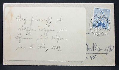 Ceskoslovensko 1939 Zelesice Stamp Tschechien Brief Schöllschitz (L-2101