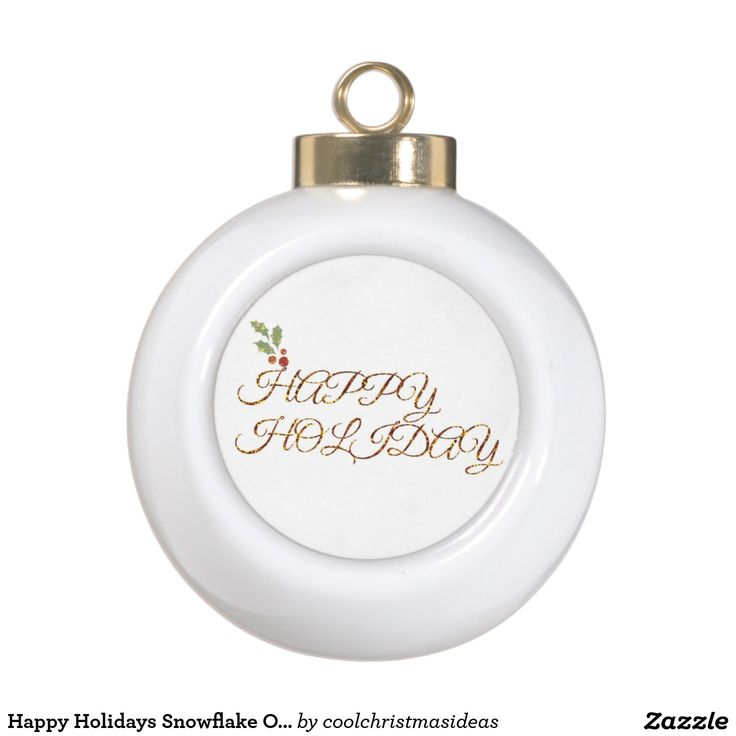 Happy Holidays Snowflake Ornament