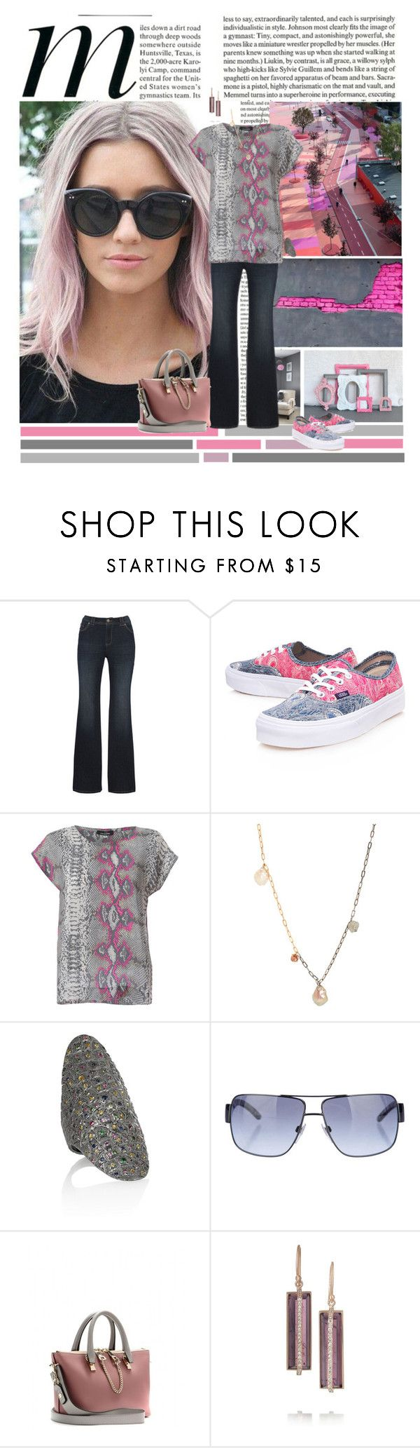 """Grey & Pink"" by valc5 ❤ liked on Polyvore featuring Yohji Yamamoto, Vans, Mercy Delta, Sharon Khazzam, Venyx, Burberry, Chloé and BROOKE GREGSON"