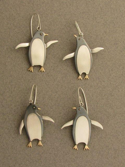 penguins earrings by Ahlene Welsh