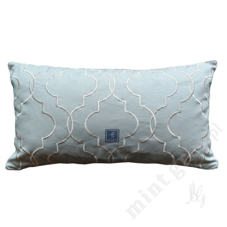 MINT GREY New York Style Interiors | produkty - dodatki; Poduszka QUATREFOIL MINT; Poduszki MINT GREY; Pillows; Long Cushion