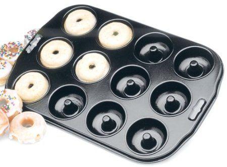Mini donut pan... methinks I NEED one!: Minis Donuts, Baking Donuts, Baking Pan, Donuts Pan, 12 Counted Nonstick, Nonstick Minis, Donuts Recipes, Birthday Gifts, Minis Doughnut