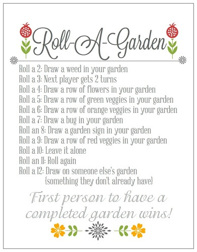 Roll-A-Garden {Fun Dice Game & Printable}