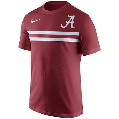 Alabama Crimson Tide Men's Nike Shirt Team Stripe T-Shirt Crimson