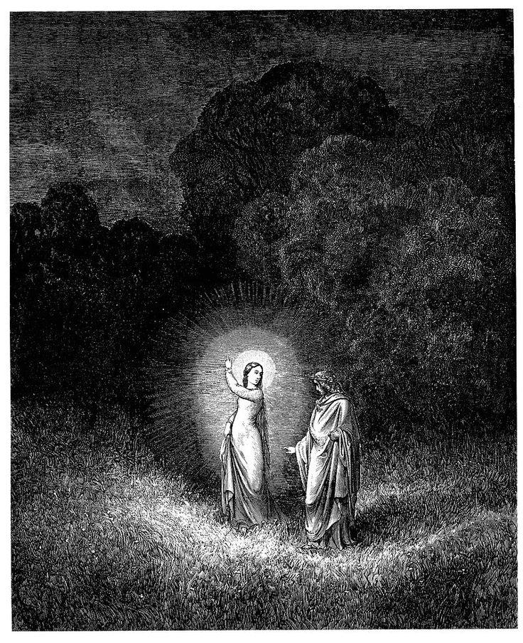 Gustave Doré - Dante Alighieri - Inferno - Plate 7 (Beatrice) - Beatrice Portinari - Wikipedia
