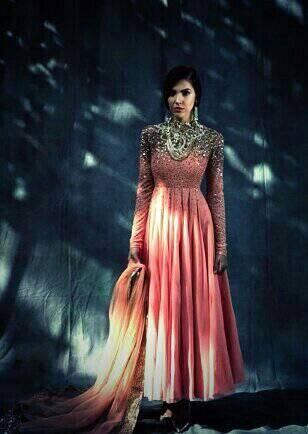 #Desi #Fashion ~ Gorgeous, embellished #Anarkali ~