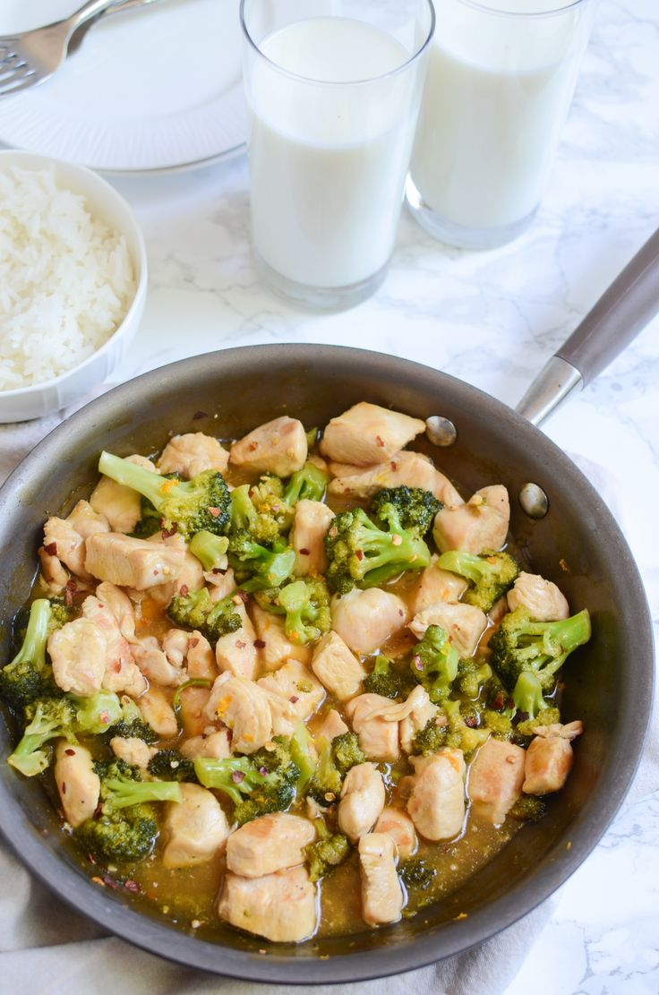 This easy, healthy Orange Chicken is the perfect weeknight 20 minutes meal. Pair it with a nutritious glass of milk! #FoodLovesMilk