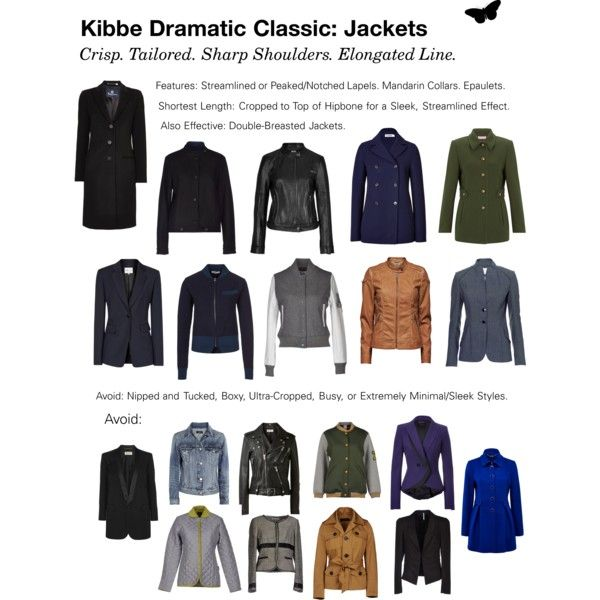"""Kibbe Dramatic Classic: Jackets"" by dramaticclassic on Polyvore"