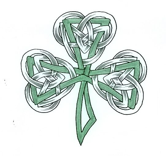 irish tattoo nice celtic shamrock in the hardcore irish style show your true tattoo. Black Bedroom Furniture Sets. Home Design Ideas