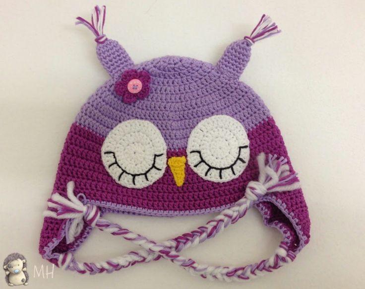 MADRES HIPERACTIVAS: Gorros Búhos a Crochet