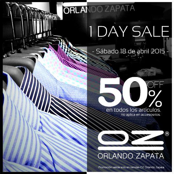 Solo por HOY en Tienda OZ Orlando Zapata 50% de Descuento / Alamedas Centro Comercial #Piensaenti