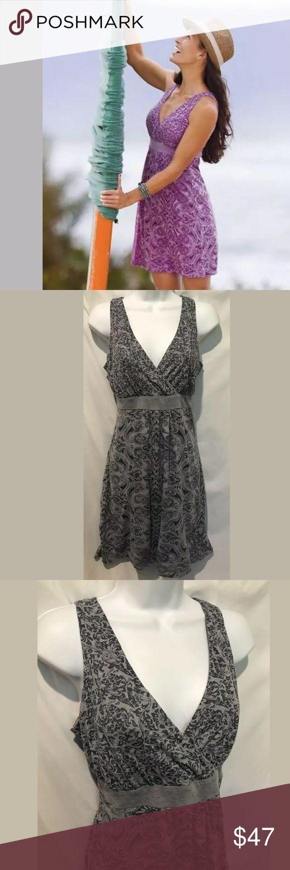 Gray ATHLETA Las Palmas Dress Paisley Vneck Knit This is a Fabulous ATHLETA Las …