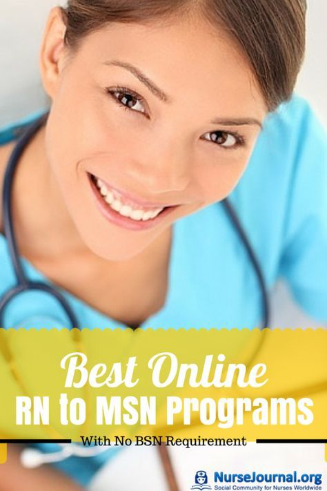 There are nursing programs where you can go directly from RN to MSN without having to have a BSN first. Here are some of the BEST! - Best Online RN to MSN Programs No BSN Requirement http://nursejournal.org/msn-degree/masters-in-nursing-without-bsn/