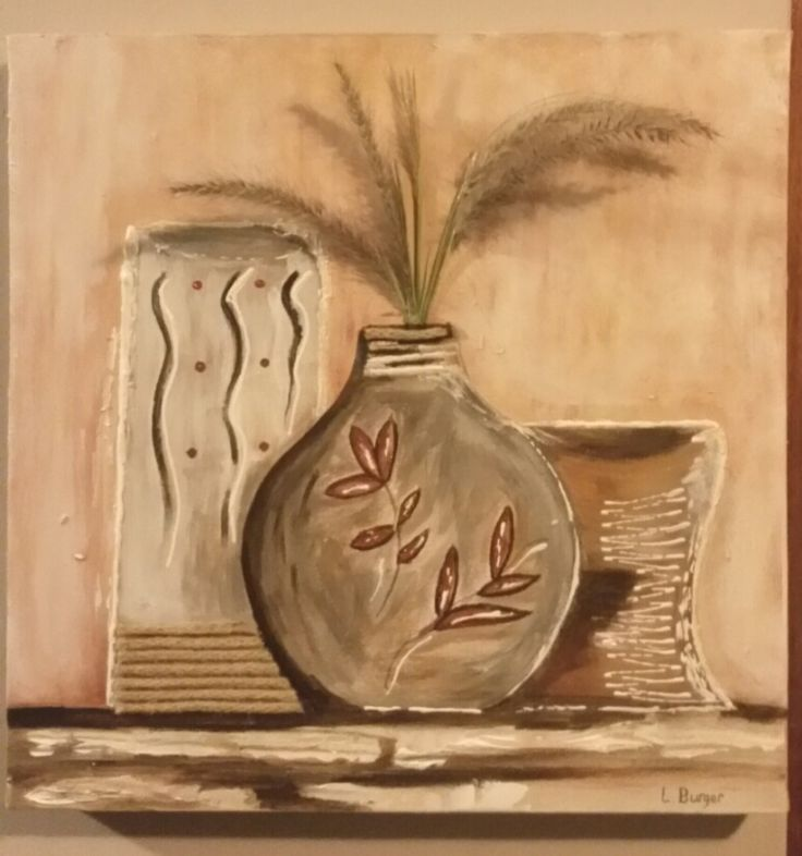 African Pots (mixed media)