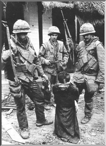 My Lai Massacre, Vietnam, 1968. March if i am not mistaken