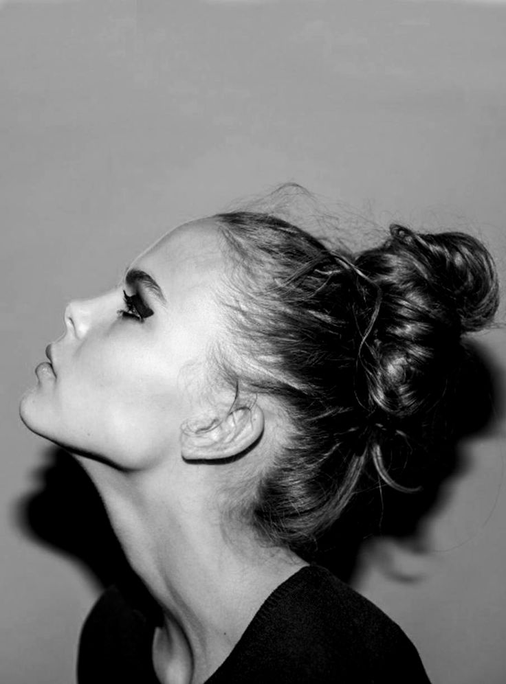 How To Draw A Messy Bun From The Side
