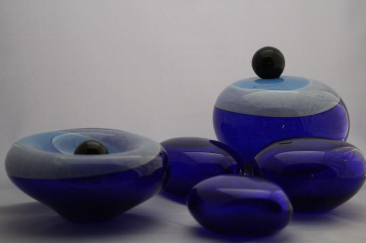 """""""Blue Dreams"""" hand blown glass by camekan glassworks collection 2014"""