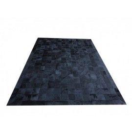 Tapete de couro preto tingido 1,00x1,50 com bordas