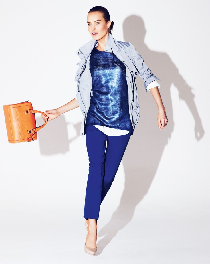 Blues are going to be big this year! Outfit from M&S
