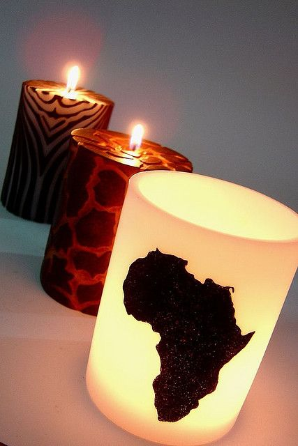 Afrocentric candles