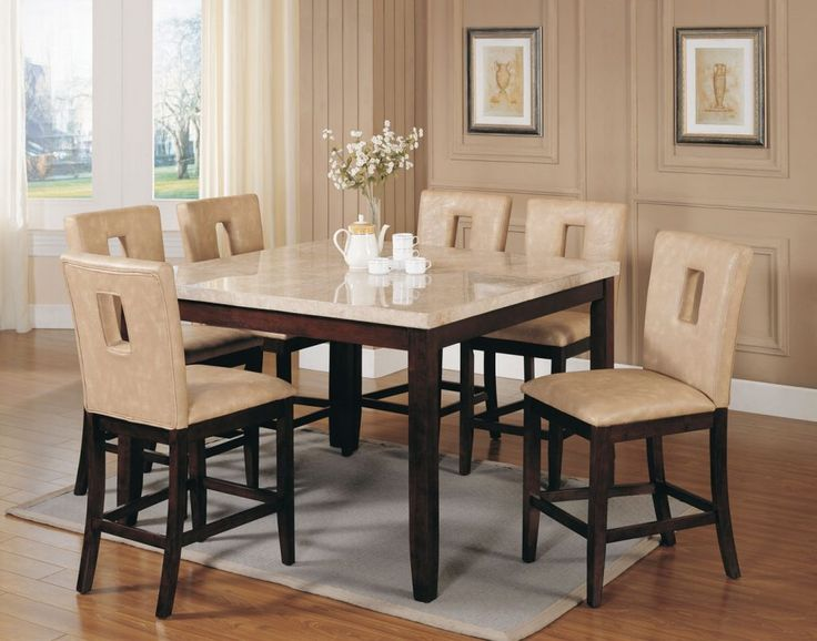 Pin On White Marble Dining Table, 7 Piece Dining Room Set Under $500