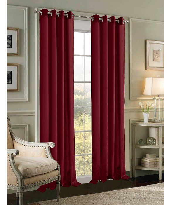dainty home velvet grommet window panel pair set of 2
