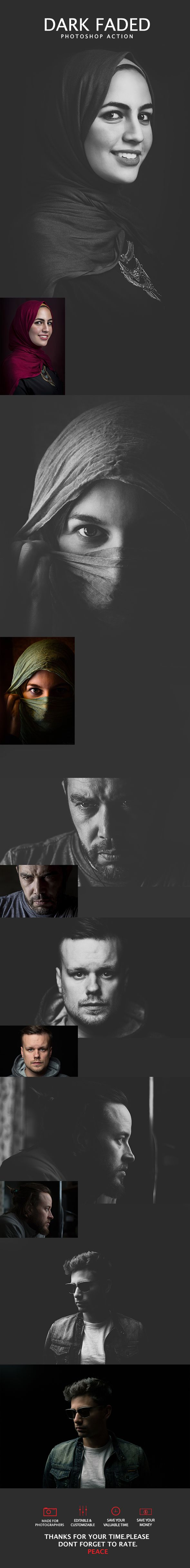 6 #Dark #Faded #Photoshop Action - Photo Effects Actions