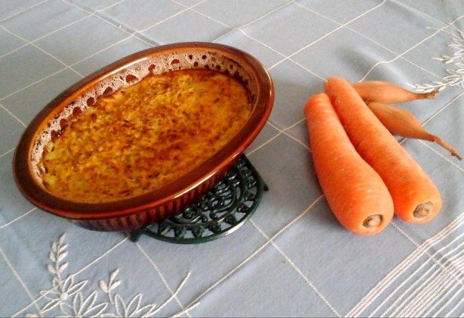 Sült reszelt sárgarépa