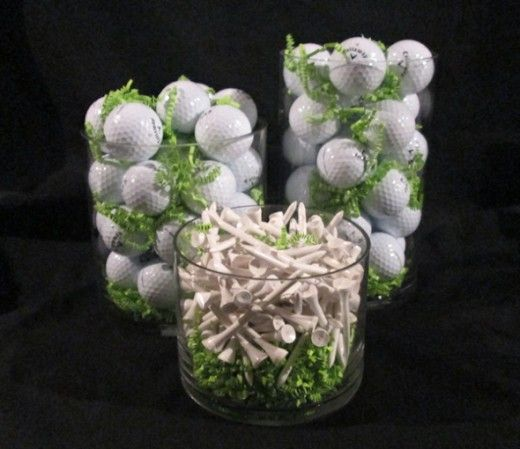 table decorations for golf tournaments | Image: DecoratingforEvents – Mandee