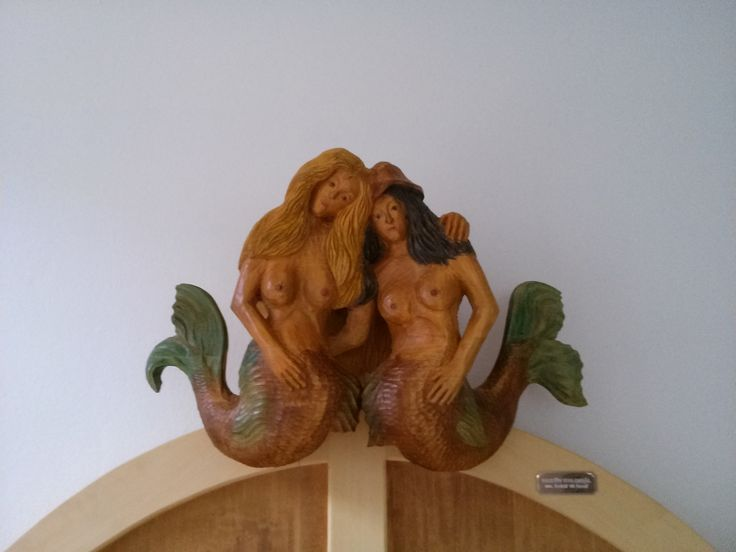 Sculpture of mermaids