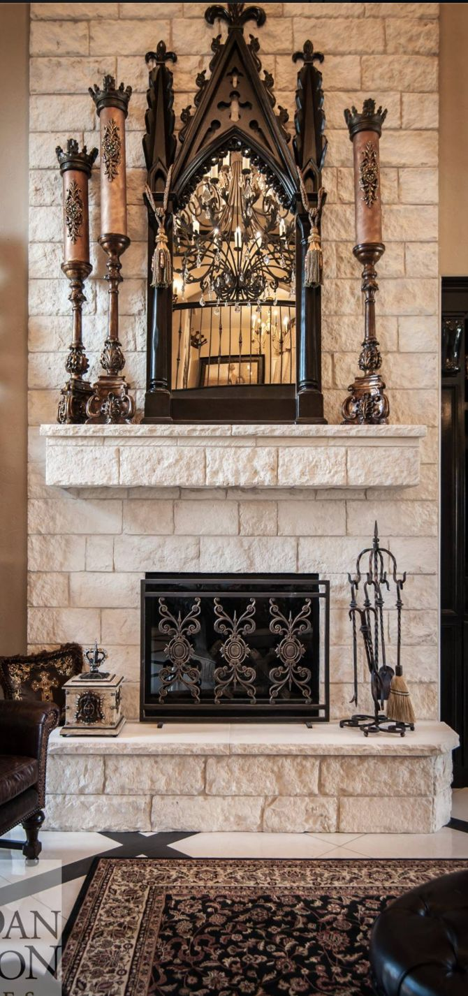 17 best ideas about white stone fireplaces on pinterest for Mediterranean fireplace designs