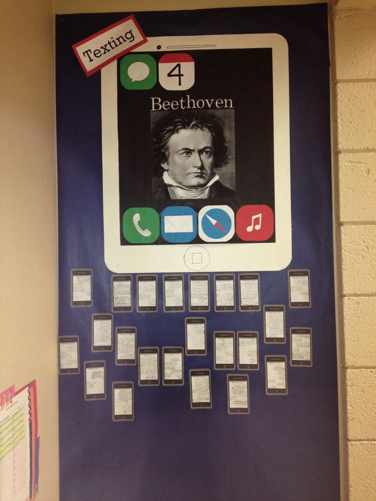 Texting Beethoven. Music class lesson.