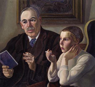 Duncan Grant 'John Maynard Keynes and Lydia Lopokova'.