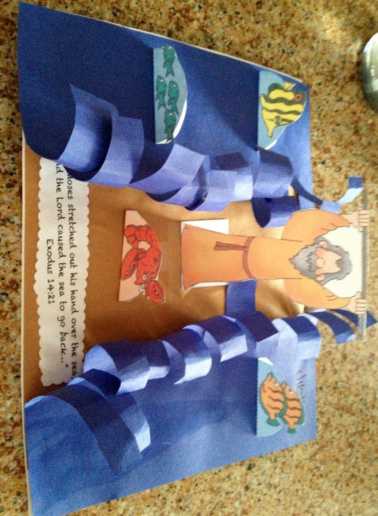 Moisés abre o mar (papel)