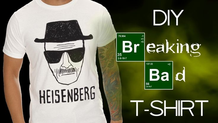 Diy Breaking Bad / Heisenberg T   Shirt  •  Free tutorial with pictures on how to paint a t-shirt in under 150 minutes