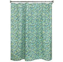 Cancun Tile Blue/ Green shower curtain
