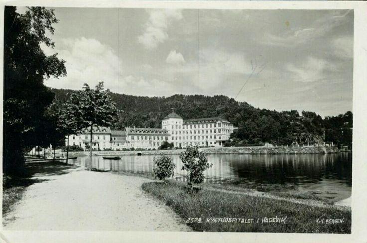 Hordaland fylke Bergen Hagavik  HAGEVIK. Kysthospitalet på avstand  Utg K.Knudsen postgått 1947