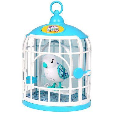 #PopularKidsToys Just Added In Store! Little Live Pets Bird Cage with Singalong Sammy -  The Little Live Pets Bird Cage is the perfect home for your feathered friend to sit and swing in. Krissy Crystal will respond to your touch, sing, chirp and tweet just for you. The more you play with it, the happier it becomes! Your Little Lives Pet will even whistle a tune when it's feeling super-happy. Your bird can also talk back to you. Just use the button on your bird's chest to