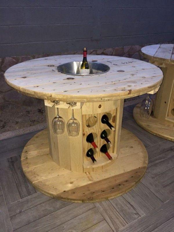15 wunderbare DIY Draht Spulen Möbel für Ihr Zuhause und Garten #furni … #dr…