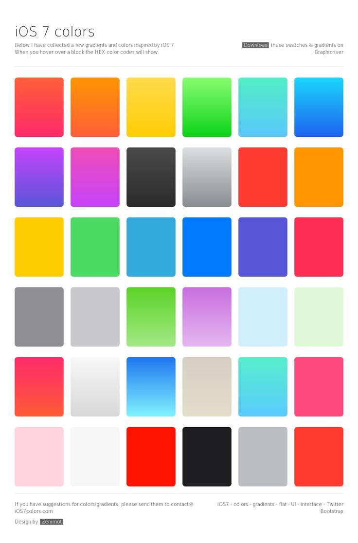 iOS 7 Colors by Zenimot