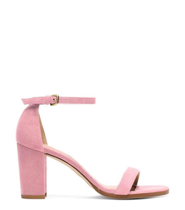 Sandali rosa dalla collezione di scarpe Stuart Weitzman | sandali estate 2017 rosa