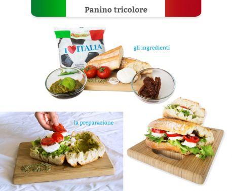I mondiali si avvicinano, la Nazionale è pronta a scendere in campo e noi a tifarla!  Scopri le #Ricette di Silvia: http://www.dimmidisi.it/it/dimmicomefai/le_ricette_di_silvia/article/panino_tricolore.htm - #dimmidisi #ricetta #cucina #recipe #cooking #cuisine #soccer #calcio #sandwich #italia #italy