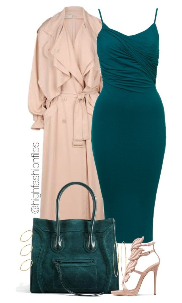 """Blush x Teal"" by highfashionfiles ❤ liked on Polyvore"